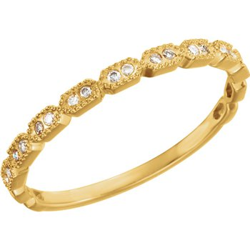 14k Yellow Stackable Diamond Ring