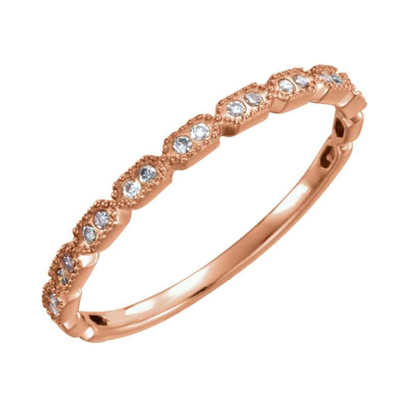 Gallery Designs 14k Yellow Stackable Diamond Ring
