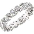 Gallery Designs Scroll Diamond Eternity Band 14KY