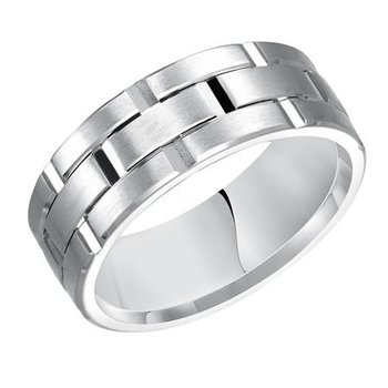 14KW Comfort Fit Engraved Wedding Band