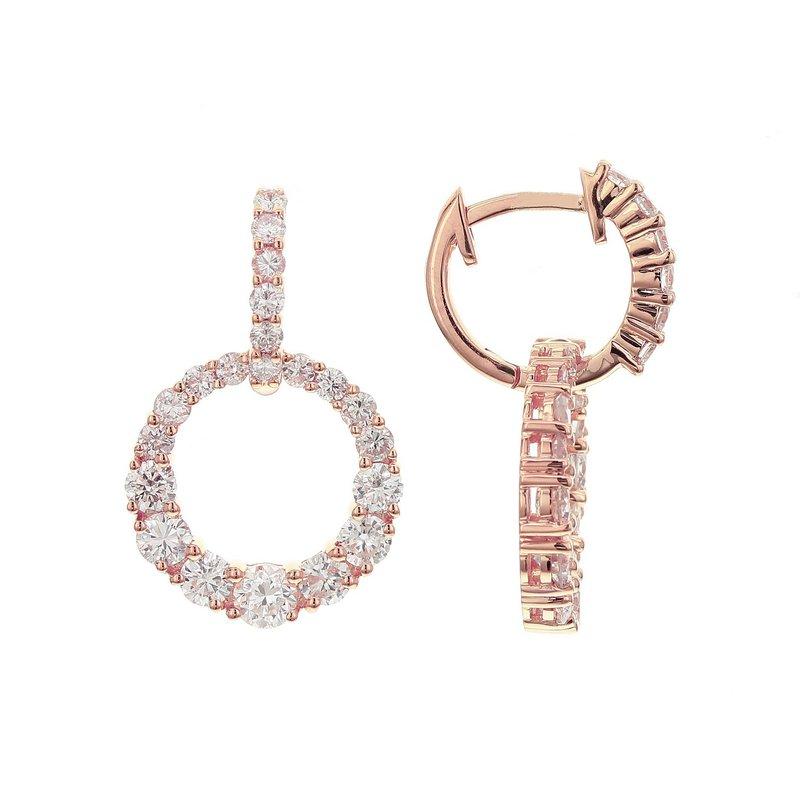 Odelia Jewelry Diamond Circle Dangles 18KR