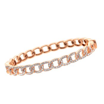 Chain Link Diamond Bangle 18KR