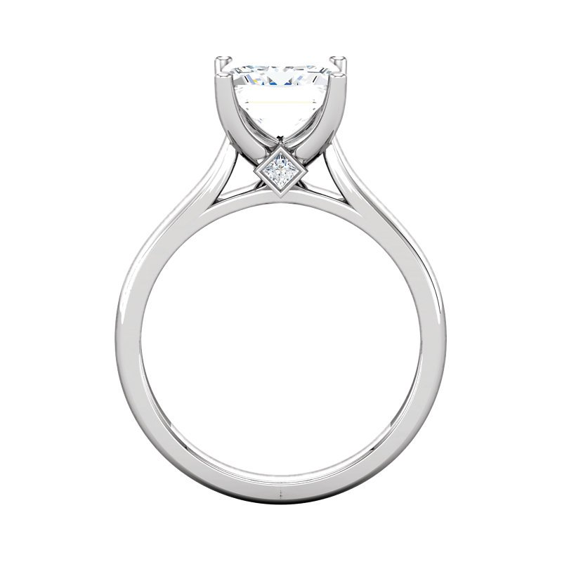 Gallery Designs 14K White Solitaire Setting Only