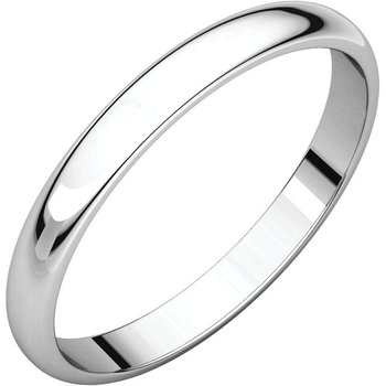 14K White 2.5mm Light Band