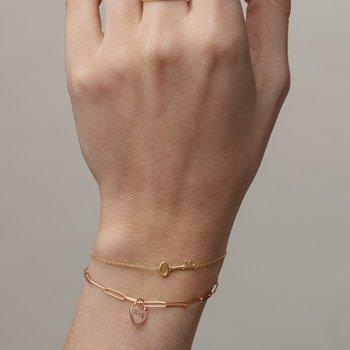Elongated Link Bracelet 14KR
