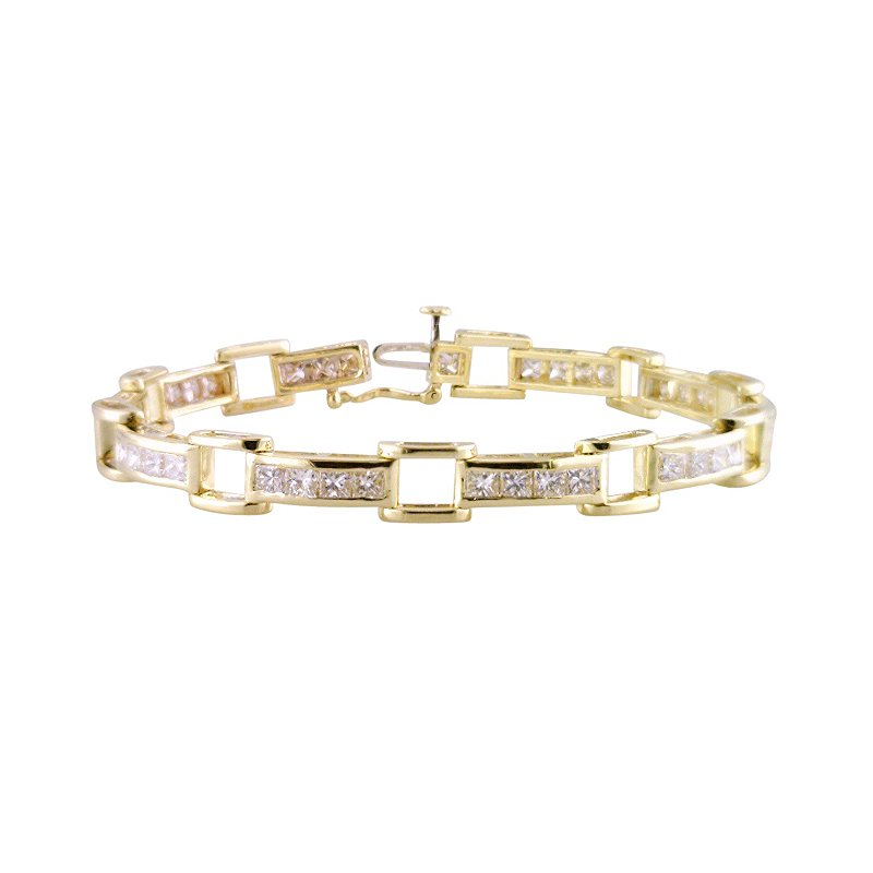 Estate Jewelry Estate Open Square Link Bracelet