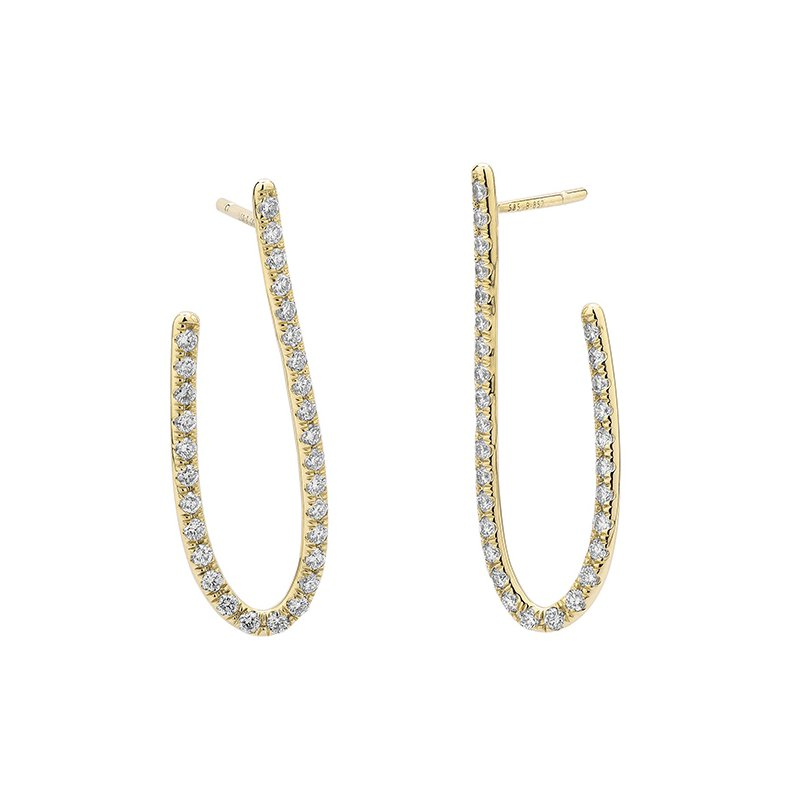 Facet Barcelona Design Access J-Hoop Earrings 14KY