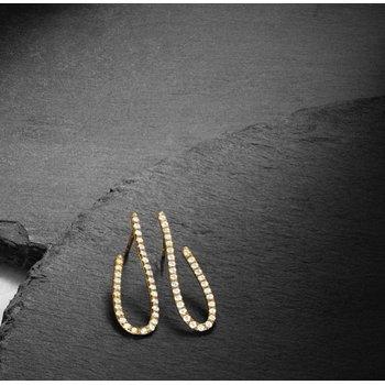 Design Access J-Hoop Earrings 14KY