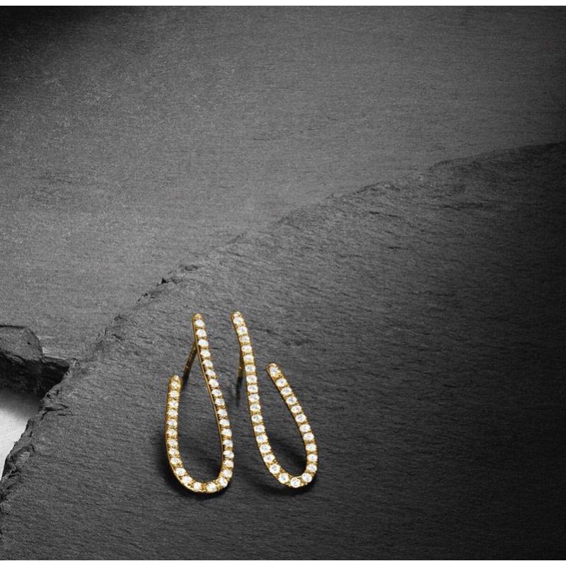 Facet Barcelona Design Access J-Hoop Earrings 14KY