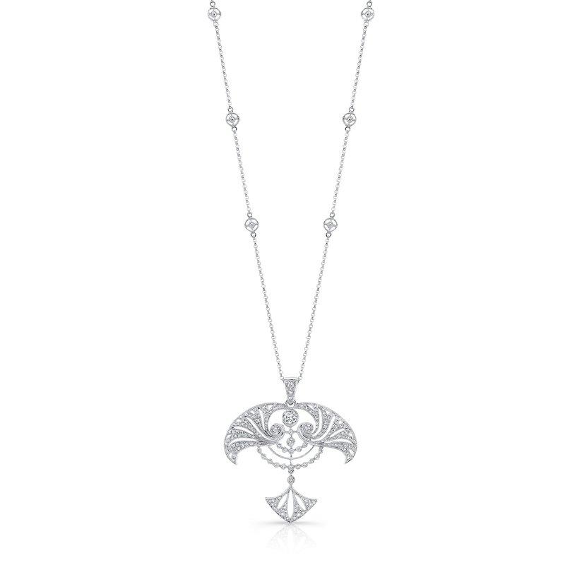 Beverley K Art Deco Style Diamond Pendant