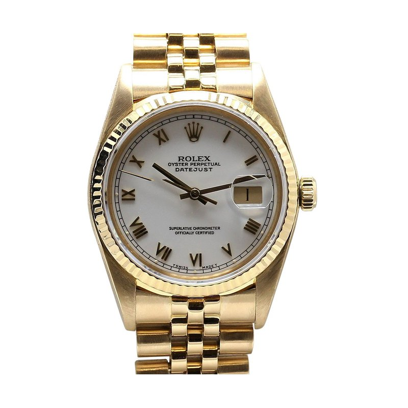 Rolex Pre-Owned Watches Datejust 18K Yellow 16018