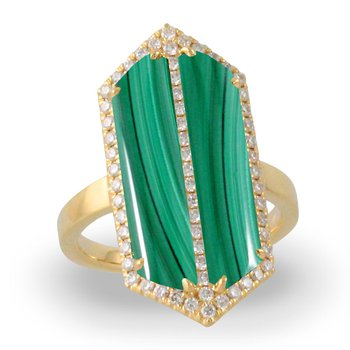 Art Deco Style Verde Diamond Ring