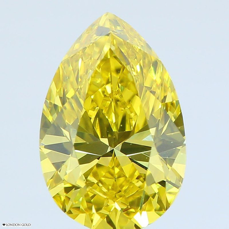 Colored Diamonds 1.22 Pear Color Treated Fancy Yellow