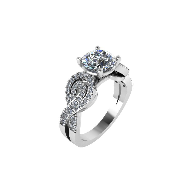 Isadora Swirl Engagement Ring - Setting Only