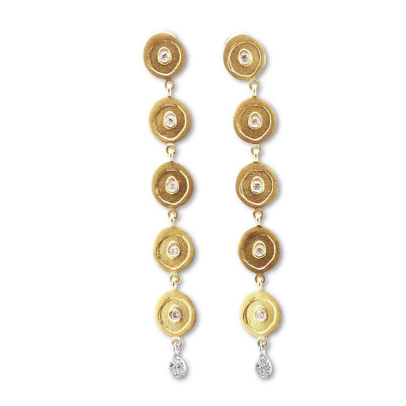 Meira T Multi Disc Dangle Earrings 14KY