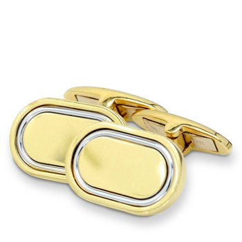 Oval Cuff Links 18K