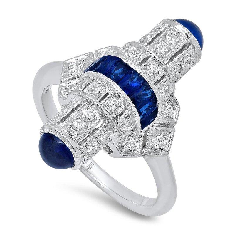 Beverley K Art Deco Sapphire & Diamond Ring