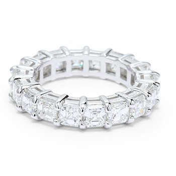 5.85ct Asscher Diamond Eternity 18KW