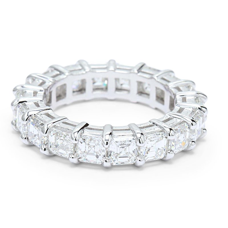 Ascencio Designs 5.85ct Asscher Eternity Band 18KW - Custom Order