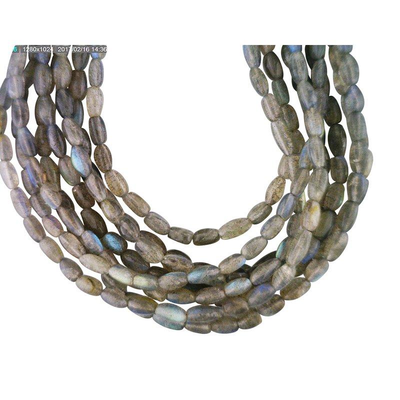 Reva Multi Strand Labradorite Necklace