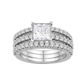 Three Row Engagement Ring - Setting Only