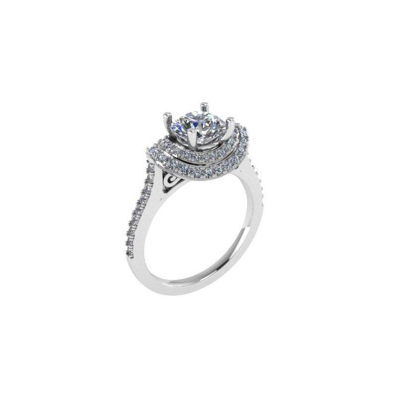 Isadora Double Halo Engagement Ring Setting