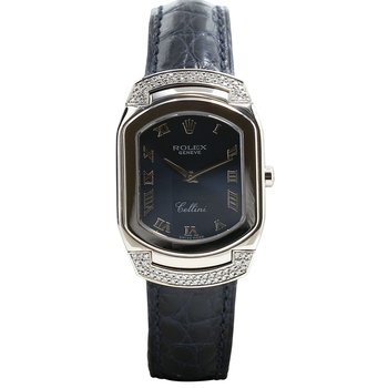 Cellini Cellissima 18K White Gold Blue Strap 6692/9