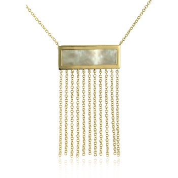 Mother of Pearl with Fringe Necklace