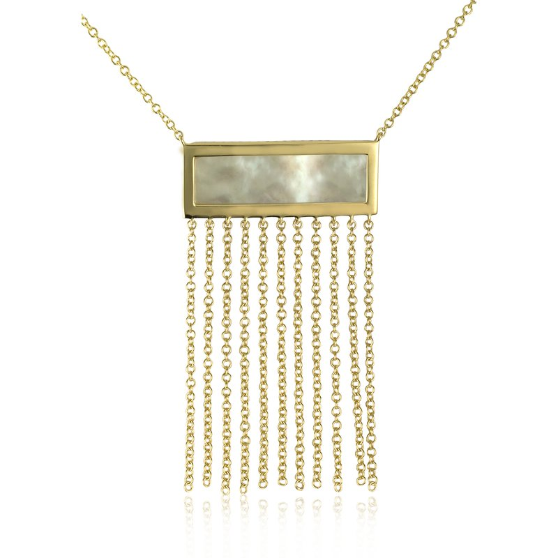 Sophia by Design Mother of Pearl with Fringe Necklace