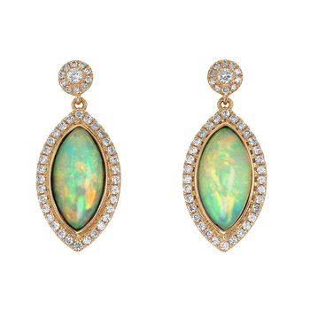 Marquise Opal Dangles 18KR