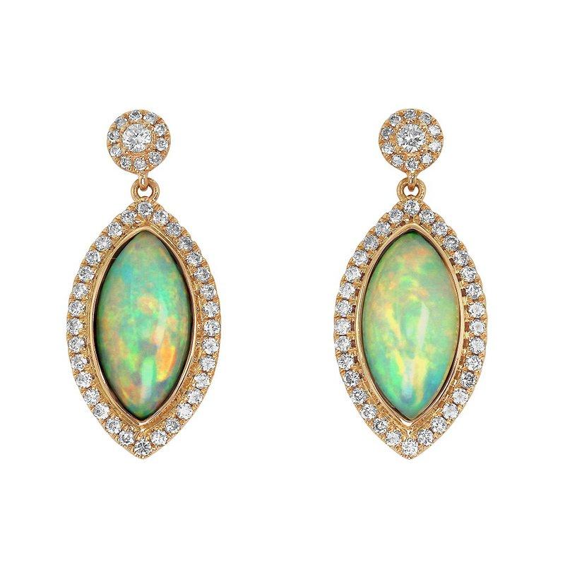 Yael Designs Marquise Opal Dangles 18KR