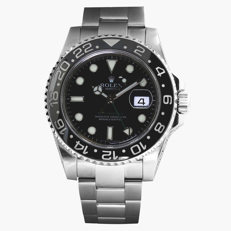 Rolex Pre-Owned Watches GMT Master ll Black Dial Steel 116710