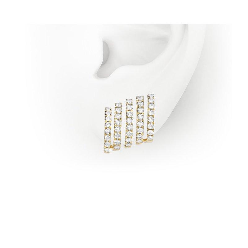 Facet Barcelona Contour Line Earrings 14KY