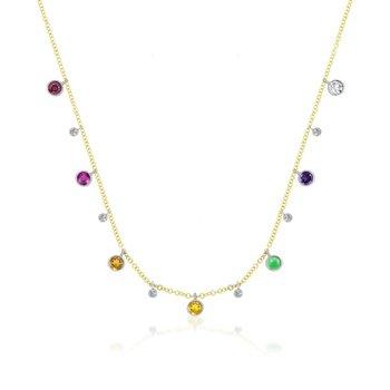 Rainbow Charm Necklace 14KY