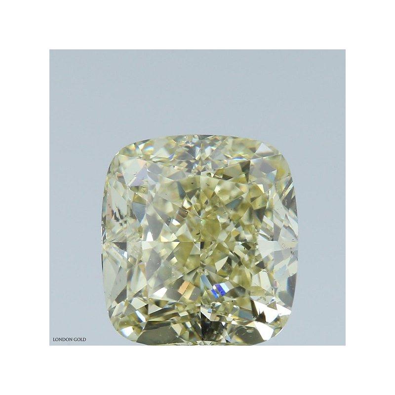 Colored Diamonds Cushion 2.22 FBGY-SI1