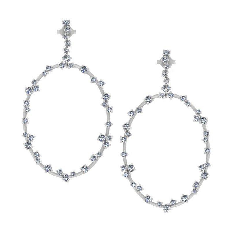 Isadora Diamond Hoop Earrings