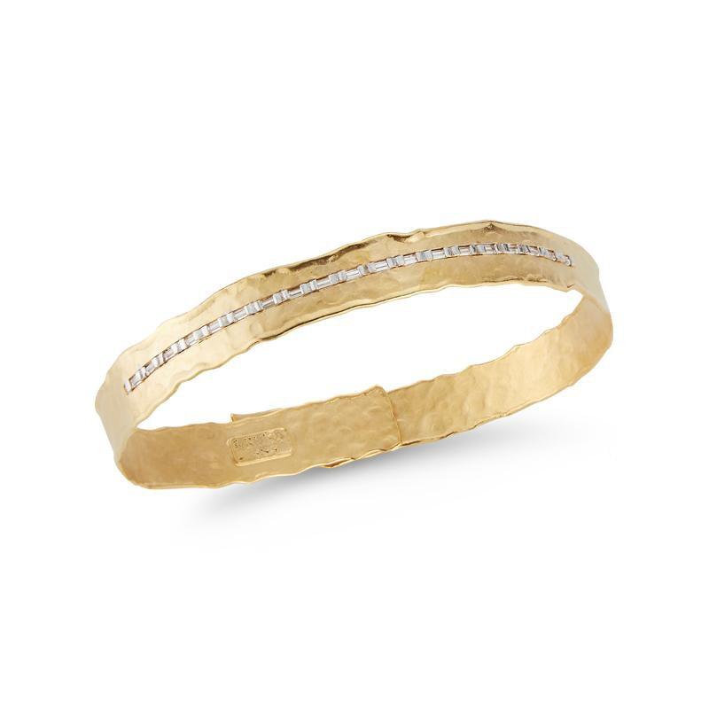 I. Reiss 14KY Channel Cuff Bracelet .30ct