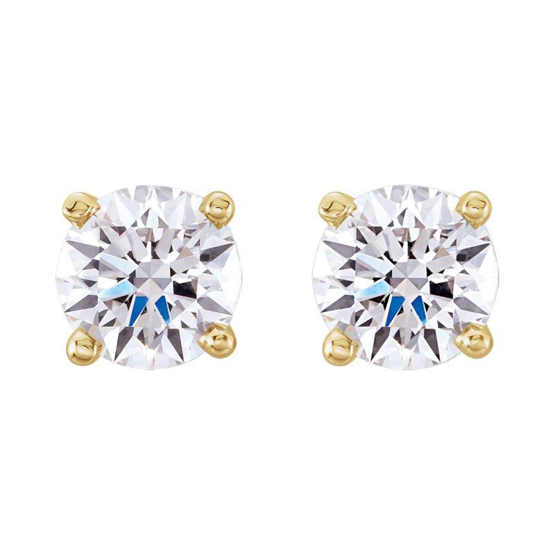 London Gold Designs .30ct Round Brilliant Stud Earrings