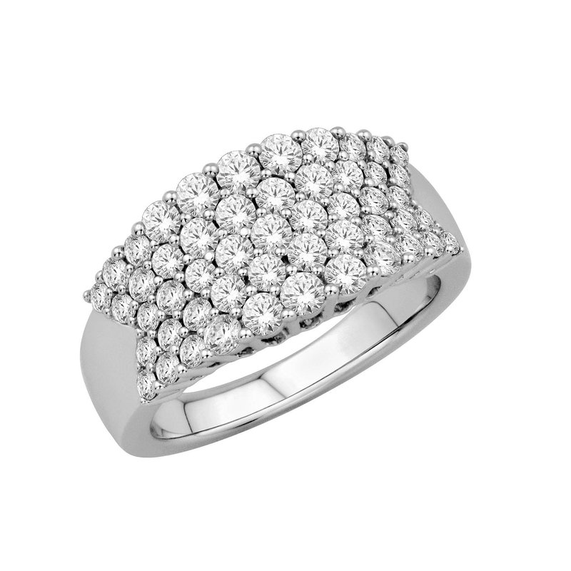 Isadora Concave Diamond Band 18KW