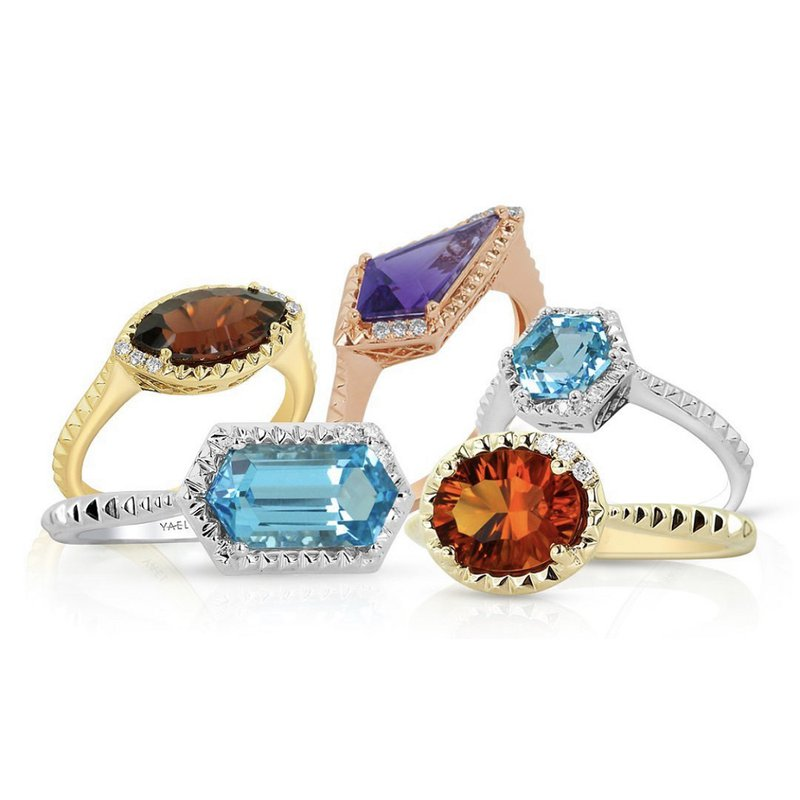 Yael Designs Marquise Garnet Ring 14KY