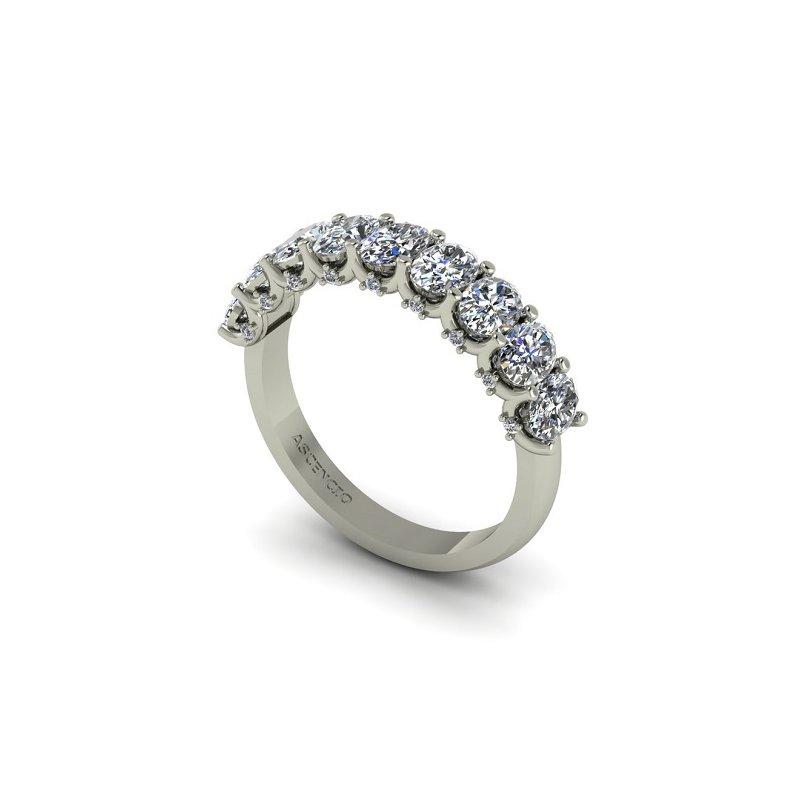 Ascencio Designs Oval Diamond Band