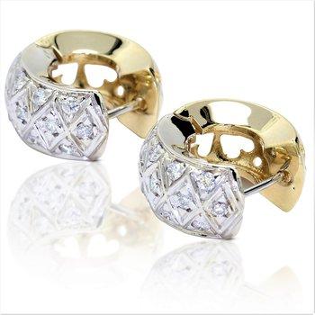 Huggy Diamond Earrings 14K