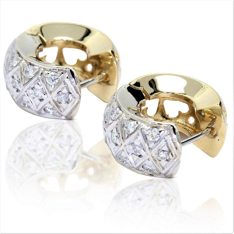 Estate Jewelry Huggy Diamond Earrings 14K