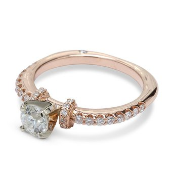 Round Diamond Engagement Ring 14KR