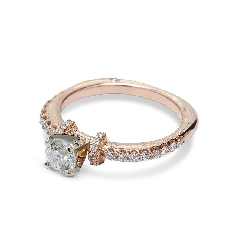 Ascencio Designs Round Diamond Engagement Ring 14KR