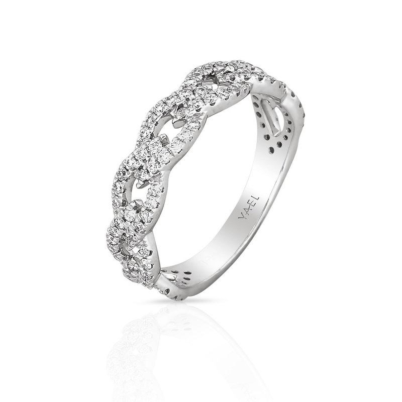 Yael Designs Interlocking Diamond Band 18KW