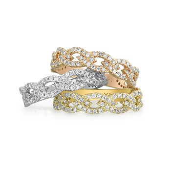 Interlocking Diamond Band 18KW