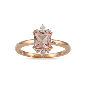 Morganite Ring 18KW