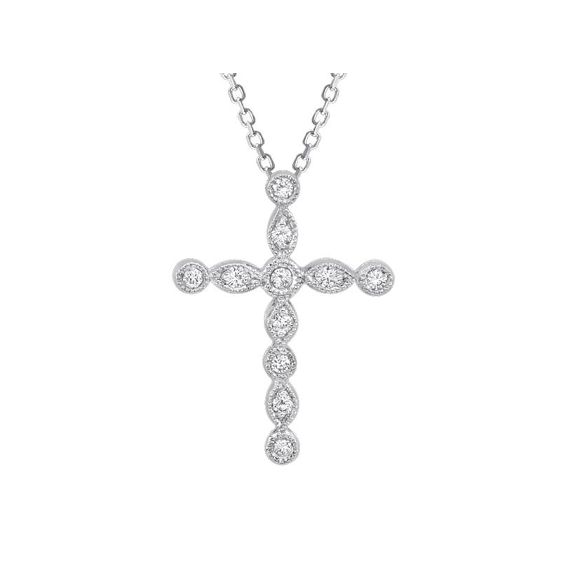 Beverley K Vintage Diamond Cross Pendant