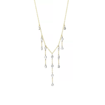 Diamond Dangle Necklace 14K